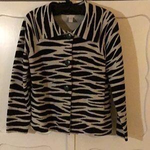 Chicos animal print sweater/jacket